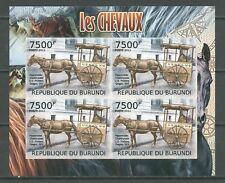 Pferd, Kutsche - Burundi - 1 KB B ** MNH 2012