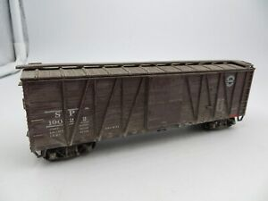 HO Scale Accurail  SOUTHERN PACIFIC SP 40' SD OB Wood Box Car #19022 Weathered