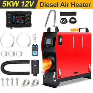 5000W Air diesel Heater LCD Remote 5KW 12V For Lorry Motor Homes Car Boat SUV