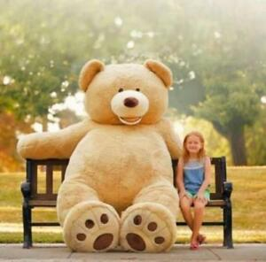 """340CM SUPER HUGE TEDDY BEAR (ONLY COVER) PLUSH TOY SHELL (WITH ZIPPER) 136"""" GIFT"""
