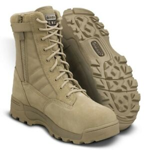 Original SWAT Classic 9 Side Zip Safety Toe Boot Tan