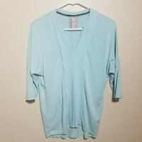 Anthropologie Dolan Left Coast Collection Top S Pintuck Pullover Mint Raw Edge