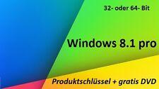 Windows 8.1 Professional 32/64 Bit  Produktschlüssel+gratis Installations-DVD