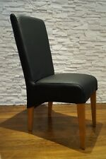Schwarz Glatt Echtleder Stuhl Echt Leder Stühle Rindsleder  Esszimmer Stühle
