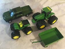 ERTL JOHN DEERE Toy Lot Die Cast Electronic Tractor w/ Sound Truck 4x4 Trailer