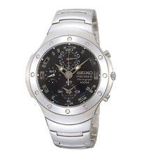 SEIKO Premier Alarm Chronograph SNA207 SNA207P1 Black Dial 100m Watch
