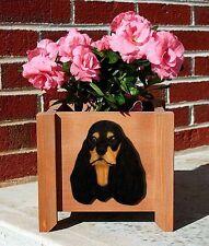 American Cocker Spaniel Planter Flower Pot Black Tan
