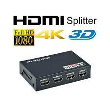 SPLITTER HDMI 4 PORTE 4K FULL HD SMART TV XBOX PS4 NINTENDO GAMING SKY.