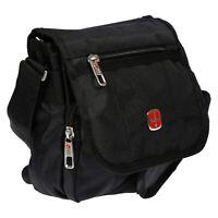 Herren Tasche mit Überschlag Umhängetasche Schultertasche Messenger Bag schwarz