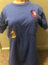 Vintage Blue Stitched Mutlley & Dick Dastardly T-shirt ;Yogis Treasure Hunt
