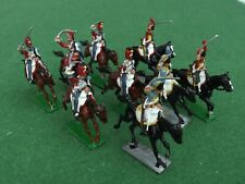 25mm Vintage Napoleonic French mixed Hussars by Stadden x9