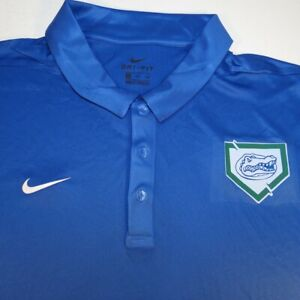 NEW NWT NIKE DRI FIT UNIVERSITY FLORIDA GATORS BASEBALL POLO GOLF SHIRT Sz XXL
