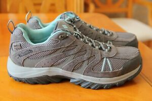 Columbia waterproof walking shoes size 6 uk eu 39 grey suede excellent condition