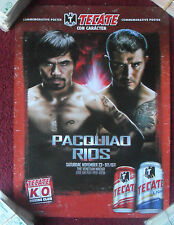 Tecate Beer Boxing Fight Poster ~ Manny Pacquiao & Brandon Rios