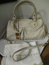NWT Marc by Marc Jacobs Classic Q Baby Groovee Satchel bag Bone Greyish White