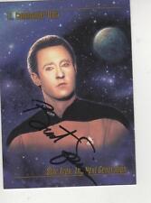 BRENT SPINER SIGNED 1993 SKYBOX STAR TREK TNG #12 - DATA