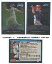 Cromos de béisbol de coleccionismo Bowman Chrome