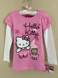 Hello Kitty Size 4 Ballerina Pink Long Sleeve Tee Top Girls Clothes