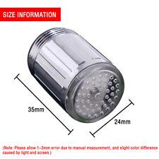 new Luminous Glow Light-up LED Shower Tap Faucet Water Nozzle Head W/Blue Light