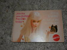 1969 VINTAGE ORIGINAL LIVING BARBIE AS FULL OF LIFE AS YOU ARE BOOKLET