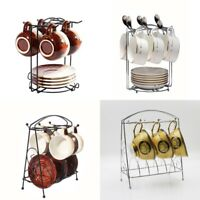 Home Kitchen Bar Mug Dishes Dry Rack Holder Tree Coffee Cup Hanger Storage Stand