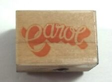 Name Rubber Stamp Carol Personalized Used