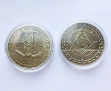 Masonic Angel Coin Freemason Time Patience Perseverance Square Compass G Symbol