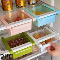 2x Fridge Box Can Holder Kitchen Shelf Organiser Cupboard Holder Storage Basket