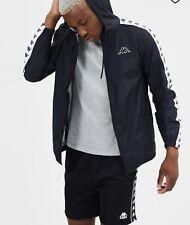 New Kappa Mens Banda Dawson Jacket In Black & White Jacket Large