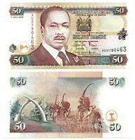 KENYA 50 Shillings (2000) P-36e UNC Banknote depicting Arap Moi Paper Money