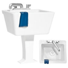 Set of 2 Plastic Toy Miniature Sink Accessories for 6 Inch Action Figures