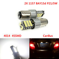 2X 1157 BAY15d P21/5W 4014 45SMD CanBus No Error LED Tail Stop bulbs Brake Light
