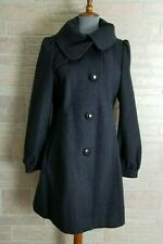GUESS Wool Blend Gray Assymetrical 3/4 Lenght Coat Size Large