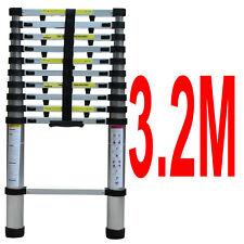 3.2M Aluminium Telescopic Ladder Extension Extendable Steps 150KG EN131