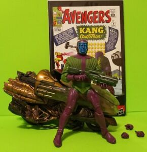 Marvel Legends KANG + CUSTOM TIME-CYCLE MOTORCYCLE+ AVENGERS (1964) # 8 1st APP*