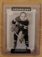 2018-19 UD Chronology HALL OF FAME #/222 Howie Morenz Montreal Canadians #28