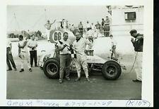 JOHN GRUM #66-SPRINT CAR- ORIGINAL AUTO RACE PHOTO 1969