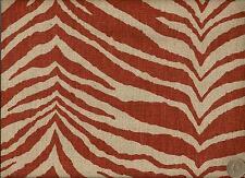 Microfibres Inc Wild Life Terra Cotta Animal Print Zebra Upholstery Fabric