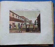 103 ANTICA STAMPA ATLANTE ISTORICO L CACCIATORE 1832 STRADA DI RIO DE JANEIRO