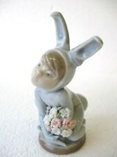 "Vintage Lladro ""In the Meadow� Figurine Boy in Bunny Costume #1508 – No Box"