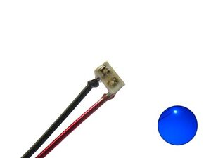 SMD Leds 0201 Blue With Wire Enamelled Copper Wire Micro Mini 10 Piece S1142