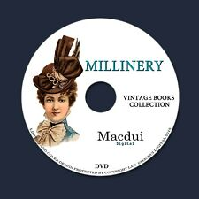 Millinery,How to make hats Vintage Books Collection 34 PDF E-Books on 1 DVD Hat