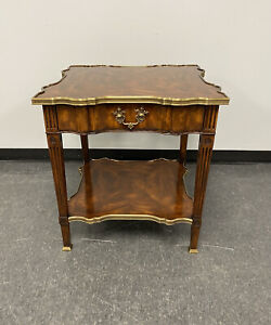 Theodore Alexander Mahogany French Louis XV Regal Side Table w/ Drawer