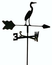Egret Garden Style Weathervane Wrought Iron Look Made In Usa Tls1017In