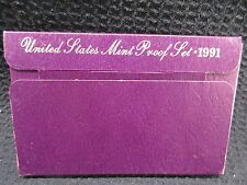 1991 UNITED STATES PROOF SET 5 CLAD COINS IN BOX