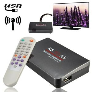 RF To AV Analog B TV Receiver Converter Modulator Adapter + Vid pro new