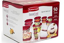 Rubbermaid 50-Piece Easy Find Lids Food Storage Set, Dishwasher Safe