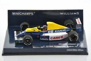 F1 WILLIAMS FW13B Hill Silverstone TEST 19.03.1991 1/43 MINICHAMPS 437910000 CAM