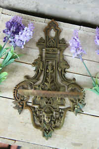 Antique bronze french gothic castle dragon figurine Wall console