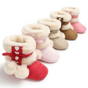 Shoes Winter Years 0-1 0-1 Year Old Winter Plus Velvet Princess Shoes Baby New